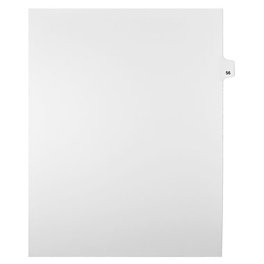 Mark Maker – Onglets séparateurs juridiques blancs, 1/25 onglets, format lettre, sans trous, numéro 56, 25/paquet