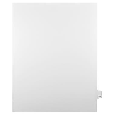 Mark Maker – Onglets séparateurs juridiques blancs, 1/25 onglets, format lettre, sans trous, numéro 172, 25/paquet