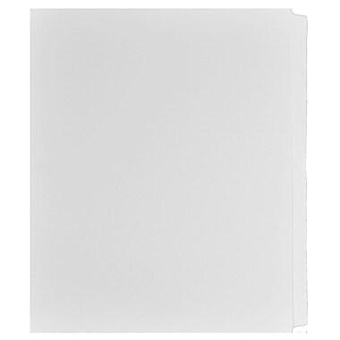 Mark Maker – Ensemble d'onglets séparateurs juridiques blancs, 1/25 onglets, format lettre, sans trous, vierges