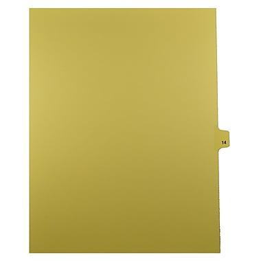 Mark Maker – Onglets séparateurs juridiques beiges, 1/25 onglets, format lettre, sans trous, numéro 14, 25/paquet