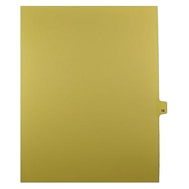 Mark Maker – Onglets séparateurs juridiques beiges, 1/25 onglets, format lettre, sans trous, numéro 15, 25/paquet