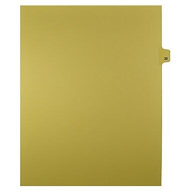 Mark Maker – Onglets séparateurs juridiques beiges, 1/25 onglets, format lettre, sans trous, numéro 32, 25/paquet