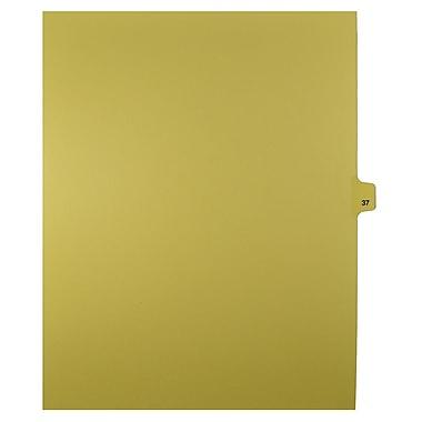 Mark Maker – Onglets séparateurs juridiques beiges, 1/25 onglets, format lettre, sans trous, numéro 37, 25/paquet