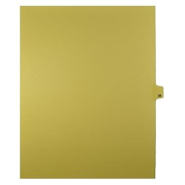 Mark Maker – Onglets séparateurs juridiques beiges, 1/25 onglets, format lettre, sans trous, numéro 38, 25/paquet