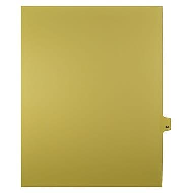 Mark Maker – Onglets séparateurs juridiques beiges, 1/25 onglets, format lettre, sans trous, numéro 42, 25/paquet