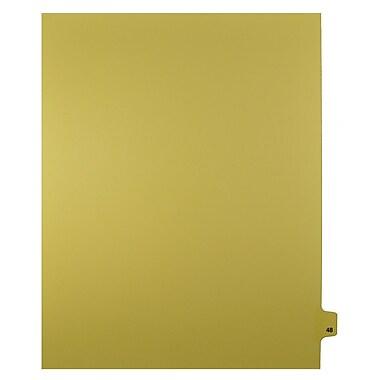 Mark Maker – Onglets séparateurs juridiques beiges, 1/25 onglets, format lettre, sans trous, numéro 48, 25/paquet
