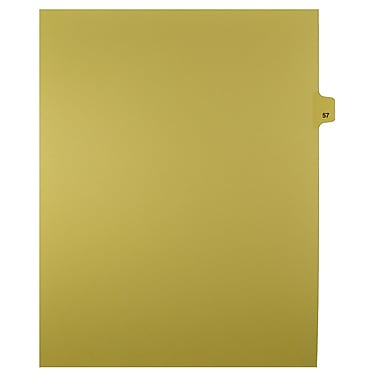 Mark Maker – Onglets séparateurs juridiques beiges, 1/25 onglets, format lettre, sans trous, numéro 57, 25/paquet