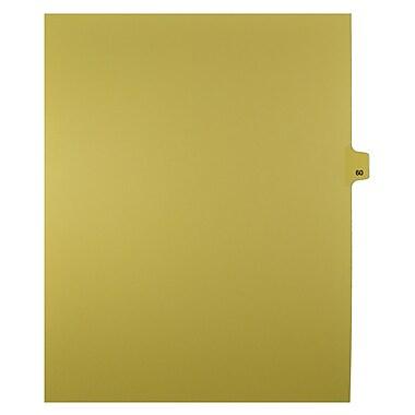 Mark Maker – Onglets séparateurs juridiques beiges, 1/25 onglets, format lettre, sans trous, numéro 60, 25/paquet