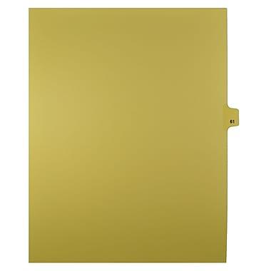 Mark Maker – Onglets séparateurs juridiques beiges, 1/25 onglets, format lettre, sans trous, numéros 61 à 80, 25/paquet