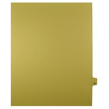 Mark Maker – Onglets séparateurs juridiques beiges, 1/25 onglets, format lettre, sans trous, numéro 70, 25/paquet