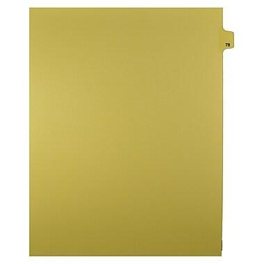 Mark Maker – Onglets séparateurs juridiques beiges, 1/25 onglets, format lettre, sans trous, numéro 78, 25/paquet