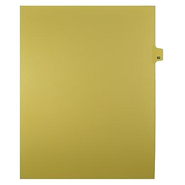 Mark Maker – Onglets séparateurs juridiques beiges, 1/25 onglets, format lettre, sans trous, numéro 82, 25/paquet