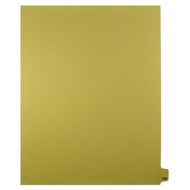 Mark Maker – Onglets séparateurs juridiques beiges, 1/25 onglets, format lettre, sans trous, numéro 100, 25/paquet