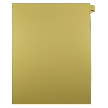 Mark Maker – Onglets séparateurs juridiques beiges, 1/25 onglets, format lettre, sans trous, numéro 101, 25/paquet