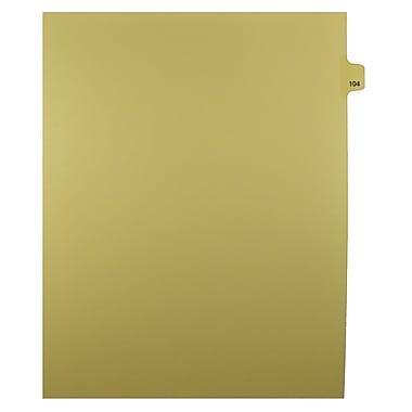 Mark Maker – Onglets séparateurs juridiques beiges, 1/25 onglets, format lettre, sans trous, numéro 104, 25/paquet