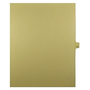 Mark Maker – Onglets séparateurs juridiques beiges, 1/25 onglets, format lettre, sans trous, numéro 113, 25/paquet
