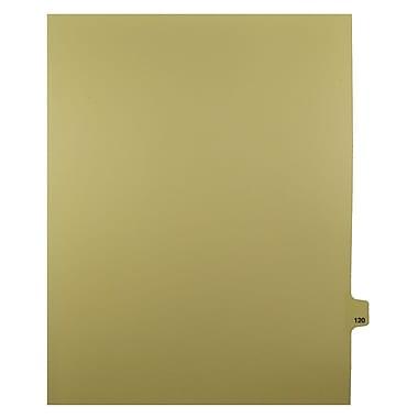 Mark Maker – Onglets séparateurs juridiques beiges, 1/25 onglets, format lettre, sans trous, numéro 120, 25/paquet