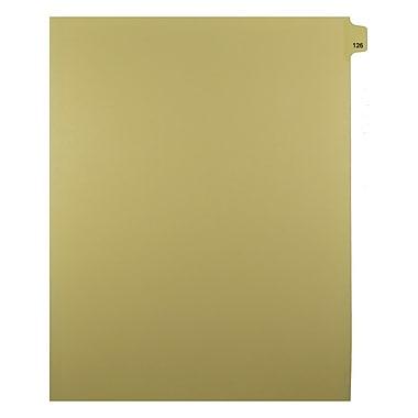 Mark Maker – Onglets séparateurs juridiques beiges, 1/25 onglets, format lettre, sans trous, numéro 126, 25/paquet