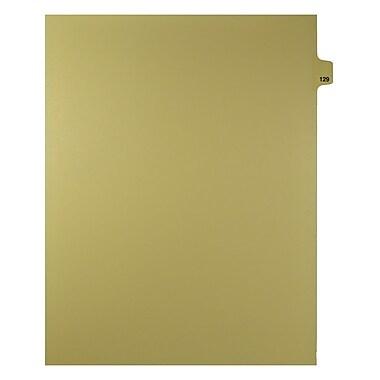 Mark Maker – Onglets séparateurs juridiques beiges, 1/25 onglets, format lettre, sans trous, numéro 129, 25/paquet