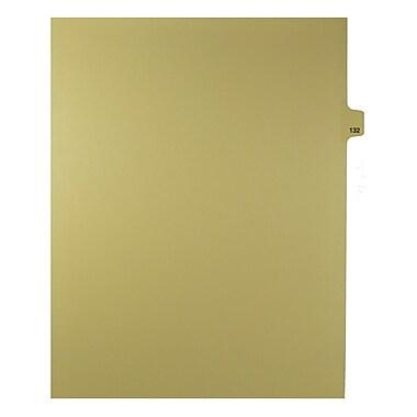Mark Maker – Onglets séparateurs juridiques beiges, 1/25 onglets, format lettre, sans trous, numéro 132, 25/paquet