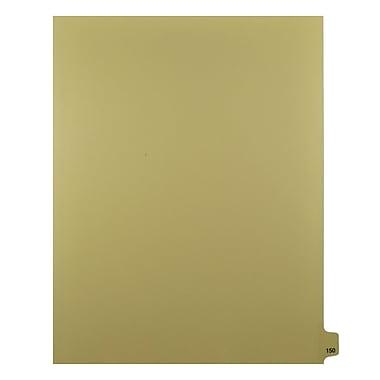 Mark Maker – Onglets séparateurs juridiques beiges, 1/25 onglets, format lettre, sans trous, numéro 150, 25/paquet