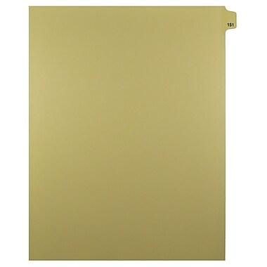 Mark Maker – Onglets séparateurs juridiques beiges, 1/25 onglets, format lettre, sans trous, numéro 151, 25/paquet