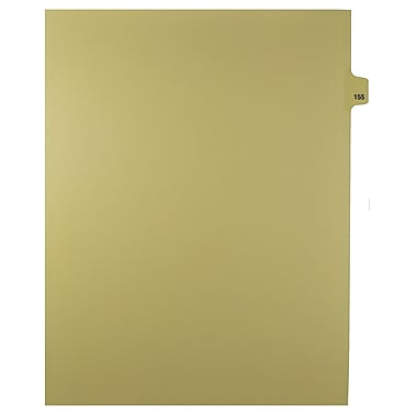 Mark Maker Legal Exhibit Index Tab Buff Single Tabs, 1/25th Cut, Letter Size, No Holes, Number 155, 25/Pack