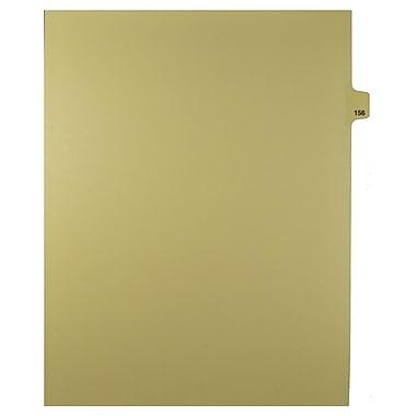 Mark Maker – Onglets séparateurs juridiques beiges, 1/25 onglets, format lettre, sans trous, numéro 156, 25/paquet