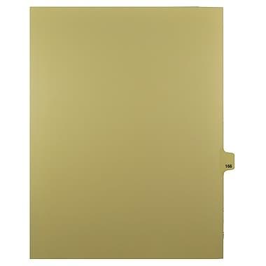 Mark Maker – Onglets séparateurs juridiques beiges, 1/25 onglets, format lettre, sans trous, numéro 166, 25/paquet