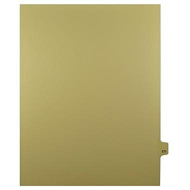 Mark Maker – Onglets séparateurs juridiques beiges, 1/25 onglets, format lettre, sans trous, numéro 171, 25/paquet