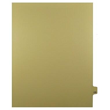 Mark Maker – Onglets séparateurs juridiques beiges, 1/25 onglets, format lettre, sans trous, numéro 172, 25/paquet