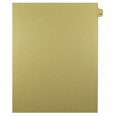 Mark Maker – Onglets séparateurs juridiques beiges, 1/25 onglets, format lettre, sans trous, numéro 177, 25/paquet