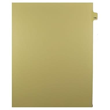 Mark Maker – Onglets séparateurs juridiques beiges, 1/25 onglets, format lettre, sans trous, numéro 178, 25/paquet