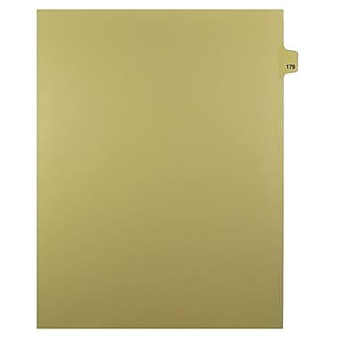 Mark Maker – Onglets séparateurs juridiques beiges, 1/25 onglets, format lettre, sans trous, numéro 179, 25/paquet