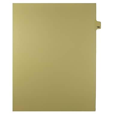Mark Maker – Onglets séparateurs juridiques beiges, 1/25 onglets, format lettre, sans trous, numéro 180, 25/paquet