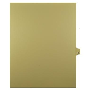 Mark Maker – Onglets séparateurs juridiques beiges, 1/25 onglets, format lettre, sans trous, numéro 190, 25/paquet
