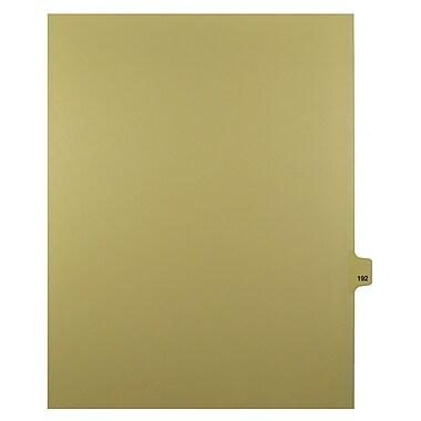 Mark Maker – Onglets séparateurs juridiques beiges, 1/25 onglets, format lettre, sans trous, numéro 192, 25/paquet