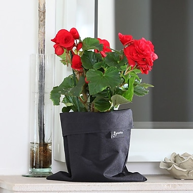 Greenbo Home and Garden Fiorina Natural Fibers Pot Planter (Set of 2); Black