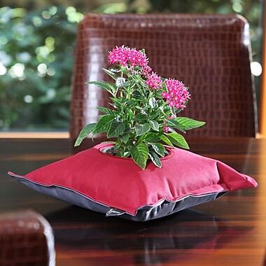 Greenbo Home and Garden Fiorina Natural Fibers/Plastic Pot Planter; Bordeaux / Gray