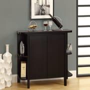 Monarch Specialties Inc. Bar Cabinet with Wine Storage