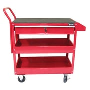 Excel Metal Utility Cart; Red
