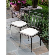 Alfresco Home Semplice Bistro Chairs with Cushions (Set of 2)