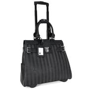 Cabrelli Lazer Stripes Laptop Briefcase; Black