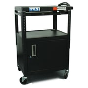 Buhl Height adjustable AV Cart w/ Security Cabinet