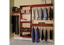 John Louis Home John Louis Home 96''W Closet System; Red Mahogany
