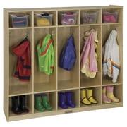 ECR4Kids 5-Section Coat Locker