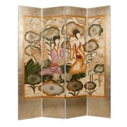 Screen Gems 73'' x 72'' Harmony Garden Screen 4 Panel Room Divider