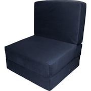 Epic Furnishings LLC Nomad Convertible Chair; Suede Dark Blue