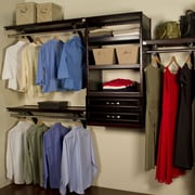 John Louis Home Woodcrest 120''W Closet System; Espresso
