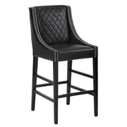 Sunpan Modern 5West Malabar 29.5'' Bar Stool with Cushion; Black